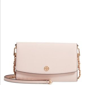 Tory Burch Robinson Leather Wallet on Chain